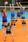 Kaposvar - Szolnok volleyballspel Royalty-vrije Stock Afbeelding