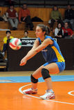 Kaposvar - Szolnok Volleyballspiel Stockbilder