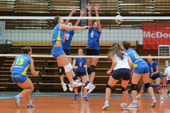 Kaposvar - Tatabanya volleyball game Stock Photography