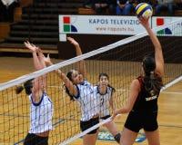 Kaposvar - Tatabanya Volleyballspiel Lizenzfreie Stockfotos