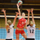 Kaposvar - TFSE volleyball game Stock Image