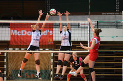 Kaposvar - TFSE volleyball game Royalty Free Stock Photos
