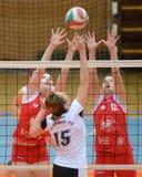 Kaposvar - TFSE volleyballspel Stock Afbeelding
