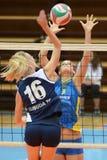 Kaposvar - Ujbuda Volleybalabgleichung Lizenzfreie Stockbilder