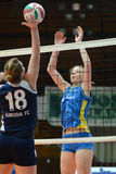 Kaposvar - Ujbuda volleyball match Stock Photo