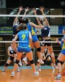 Kaposvar - Ujbuda Volleyballspiel Stockbild