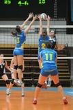 Kaposvar - Ujbuda Volleyballspiel Stockfotografie