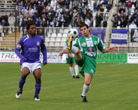 Kaposvar - Ujpest soccer game Royalty Free Stock Photos