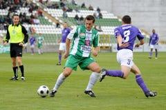 Kaposvar - Ujpest soccer game Stock Images
