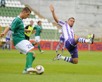Kaposvar - Ujpest soccer game Royalty Free Stock Photo