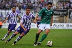Kaposvar - Ujpest soccer game Stock Photography
