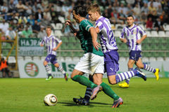 Kaposvar - Ujpest soccer game Stock Photo