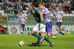Kaposvar - Ujpest soccer game Stock Photo