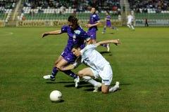 Kaposvar - Ujpest soccer game Stock Image