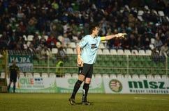 Kaposvar - Ujpest soccer game Royalty Free Stock Photography