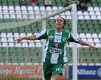 Kaposvar - Vasas soccer game Stock Images