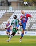 Kaposvar - Vasas soccer game Royalty Free Stock Photos