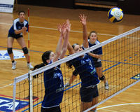 Kaposvar - Vasas volleyball game Royalty Free Stock Images