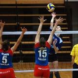 Kaposvar - Vasas volleyball game Stock Image