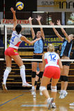 Kaposvar-Veszprem volleyball game Stock Images