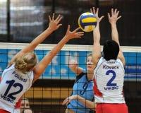 Kaposvar-Veszprem volleyball game Royalty Free Stock Photos
