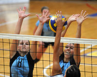 Kaposvar-Veszprem Volleyballspiel Lizenzfreies Stockfoto
