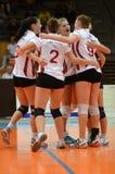 Kaposvar - Veszprem women volleyball game Stock Image