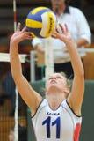 Kaposvar-Veszprtem Volleyballspiel Stockfotografie