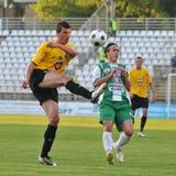 Kaposvar - Videoton soccer game Royalty Free Stock Image