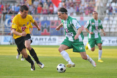 Kaposvar - Videoton soccer game Stock Photography