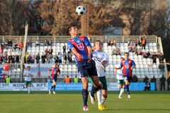 Kaposvar - Videoton soccer game Royalty Free Stock Photography
