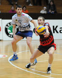 Kaposvar - Wien volleyball game Stock Image