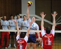 Kaposvar - Wien volleyball game Royalty Free Stock Images