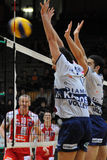 Kaposvar - Wien Volleyballspiel Stockfotografie