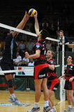 Kaposvar - Zagreb volleyball game Stock Image