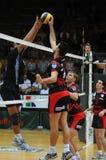 Kaposvar - Zagreb volleyball game Stock Image