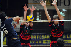 Kaposvar - Zagreb volleyball game Royalty Free Stock Photos