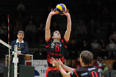 Kaposvar - Zagreb volleyball game Stock Photos