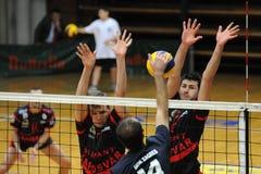 Kaposvar - Zagreb volleyball game Royalty Free Stock Photo