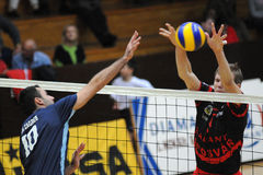 Kaposvar - Zagreb volleyball game Royalty Free Stock Photography