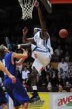 Kaposvar - Zalaegerszeg Basketballspiel Lizenzfreie Stockfotografie