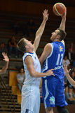 Kaposvar - Zalaegerszeg Basketballspiel Stockfotografie