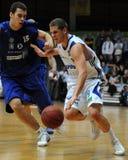 Kaposvar - Zalaegerszeg basketbalspel Stock Foto