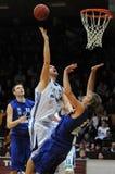 Kaposvar - Zalaegerszeg basketbalspel Royalty-vrije Stock Fotografie