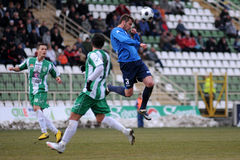 Kaposvar - Zalaegerszeg soccer game Royalty Free Stock Photography