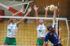 Kaposvarr - Miskolc volleyballspel Stock Foto