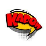 Kapow de la publicité de bulle des textes de bande dessinée Image libre de droits