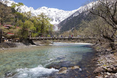 Kappa Bridge, Kamikochi, Japan Royalty Free Stock Photos