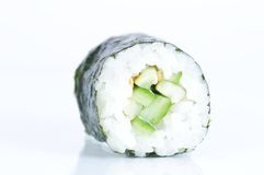 Kappa maki roll against white background Stock Image