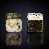 Kappa maki rolls with cucumber Stock Photos
